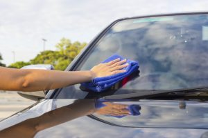 car glass cleaning